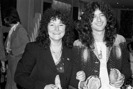 Maggie Bell and Jimmy Page of Led Zeppelin. c 1970s.